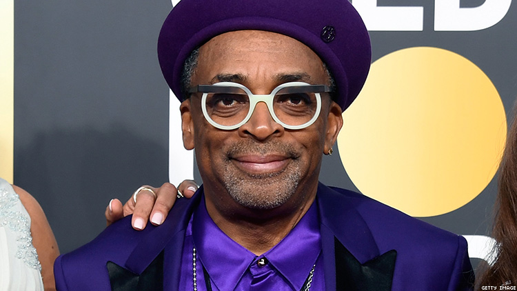 Spike Lee Rocks Custom Air Jordans at Golden Globes