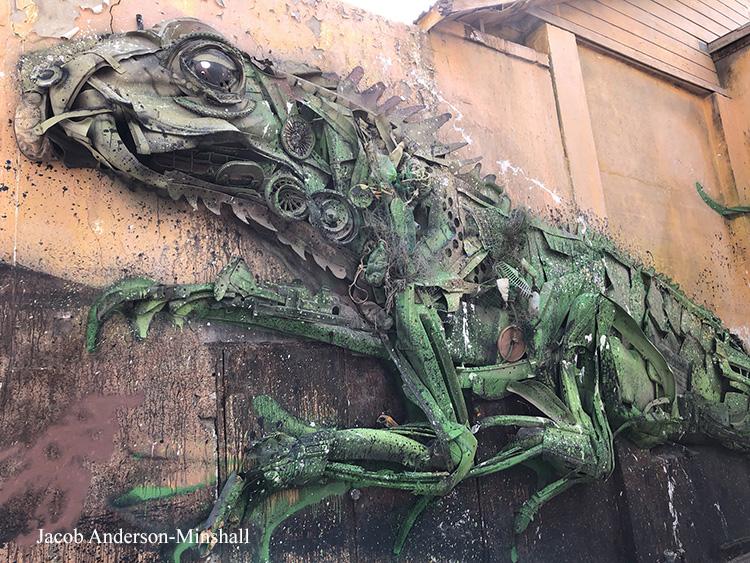 Iguana Trash Mural Jacob