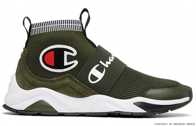 Champion Reverse Weave Green Rally Pro High-Top Sneakers
