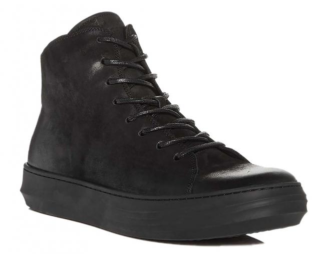 Karl Lagerfeld Paris Men's Nubuck Leather High Top Sneakers