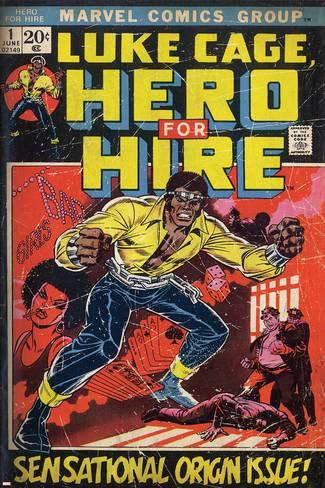 Marvel Comics Retro Luke Cage Hero For Hire Comic Book Cover No 1 Origin Aged A G 13758486 13198931
