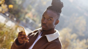 young black man online