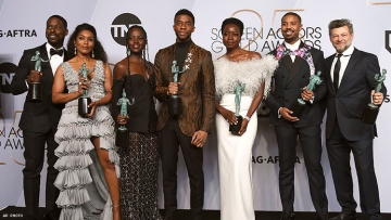 """To Be Young, Gifted, and Black"" Panther at the SAG Awards"
