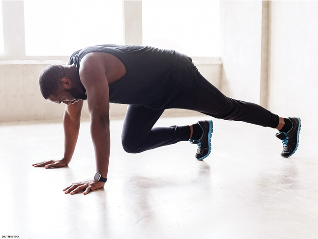 CHEST & SHOULDERS: MOUNTAIN CLIMBER PUSH-UPS