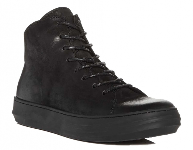 Karl Lagerfeld Paris Men's Nubuck Leather High Top Sneakers